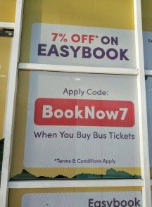 otobüs terminalindeki indirimler