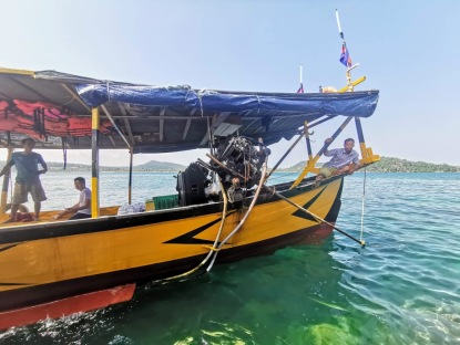 Koh Rong tekne turuna beraber çıktığımız diğer tekne