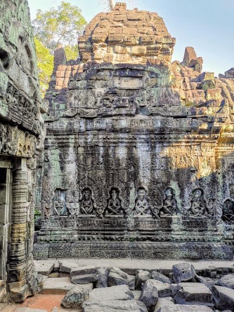 Preah Khan Tapınağındaki duvar işlemeleri