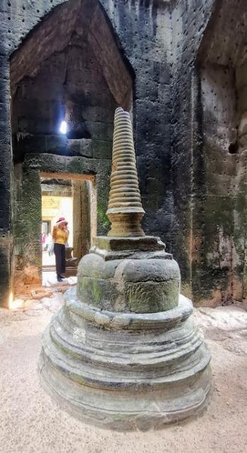 Preah Khan Tapınağındaki stupa