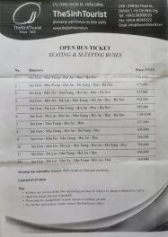 Sinh Tourist Bilet Fiyatları