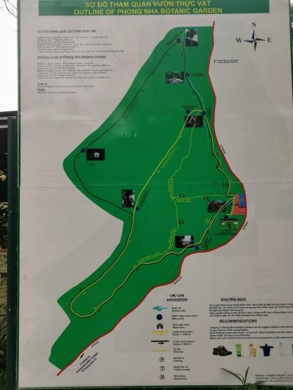 Botanic Garden yürüyüş rotası