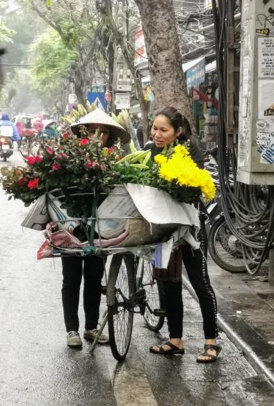 Hanoi sokaklarından bir kare