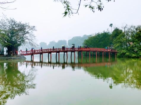 Cầu Thê Húc (meşhur kırmızı köprü)