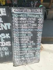 Ucuza Koh Tao-Koh Phangan bileti aldığımız dükkan