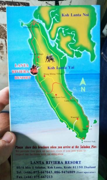 Lanta Adası haritası