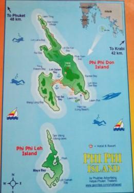 Phi Phi Adası haritası